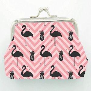 Handbags - Flamingo Print Coin Purse
